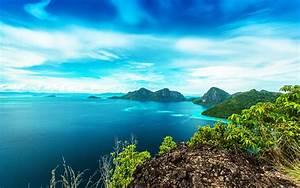 Malaysia, Beautiful, Landscape, Bohey, Dulang, Island, Sea