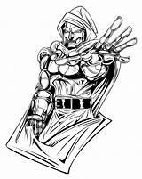 Doom Dr Coloring Doctor Drawings Casket Deviantart Printable Comics Marvel Clipart Fan sketch template