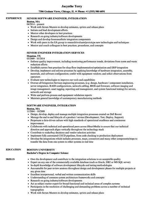 engineer integration resume sles velvet