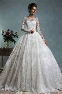 vintage lace sleeve wedding dress gown bateau neck sleeve vintage lace wedding dress