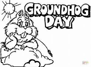 Groundhog Day Coloring Page Free Printable Coloring Pages