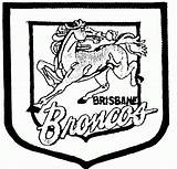 Broncos Coloring Pages Nrl Denver Rugby Football League Brisbane Team Logos Printable Texans Houston College Teams Silhouette Clipart Australian Wales sketch template