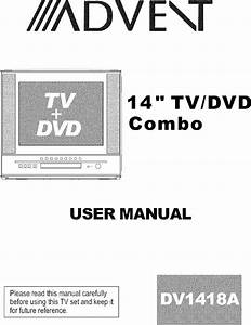 Advent Tv  Vcr Or Dvd Combo Manual L0520217