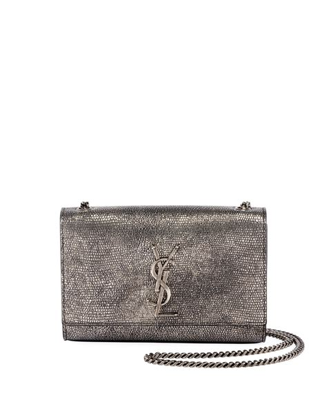 saint laurent kate monogram ysl small metallic lizard