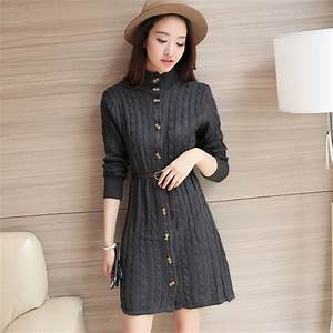 2017 Korean women new winter coat twist long cardigan ...