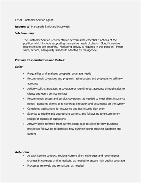 Customer Service Description Resume by Telemarketing Realty Executives Mi Invoice And