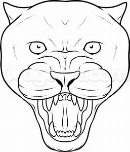 Step 7. How to Draw a Panther Face, Black Panther Tattoo
