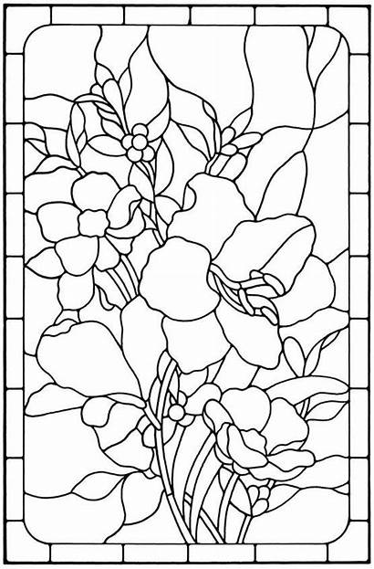 Glass Stained Patterns Painting Pattern Floral Flower