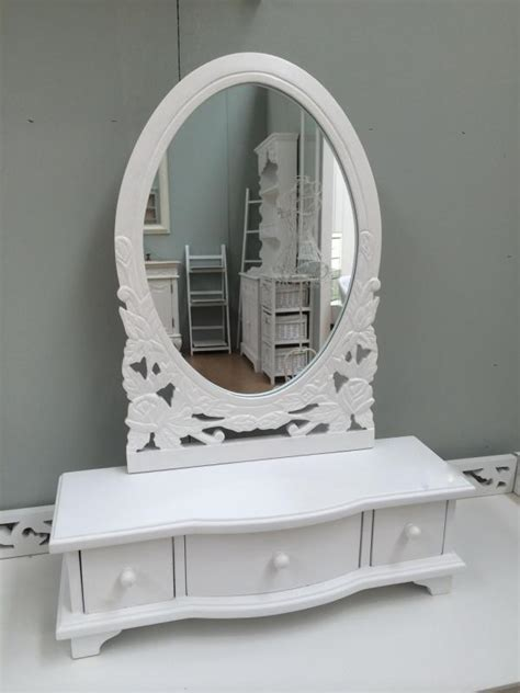 shabby chic bathroom vanity mirror white wooden shabby chic vanity mirror drawers mulberry moon