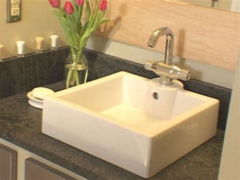 Installing Bathroom Sink by How To Install A Bathroom Countertop And Vessel Sink