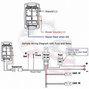 6 Gang Rocker Switch Panel Car Marine Boat Circuit Led Breaker Voltmeter 12  24v