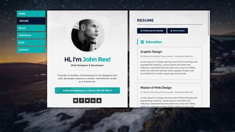 Resume Website by Now S The Time To Create Your Personal Website For 2018