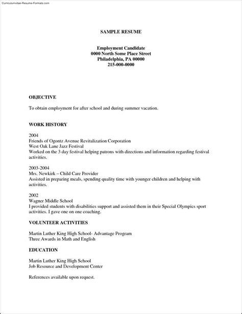 free printable resumes templates free sles exles