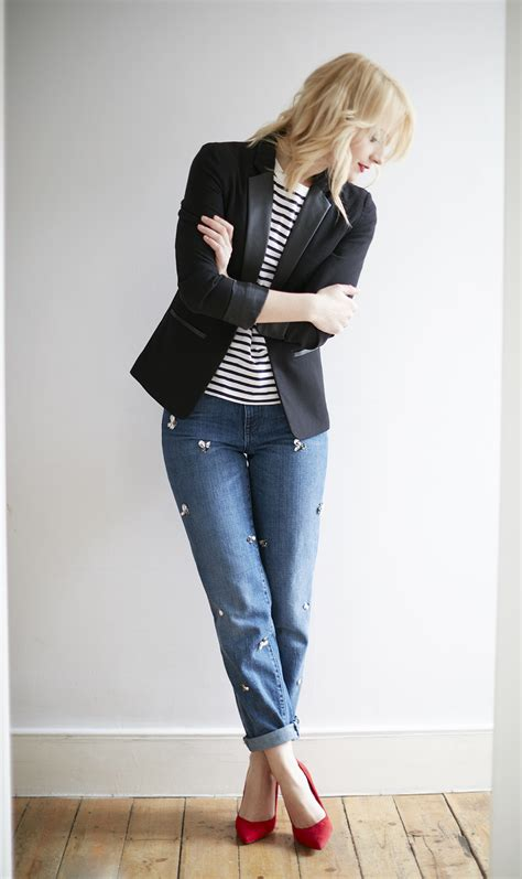 Denim Style Guide   Girlfriend jeans - coco mama style