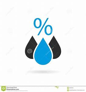 Humidity vector icon stock vector. Image of meteorological ...
