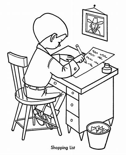 Shopping Coloring Pages Christmas Sheets Sheet Children