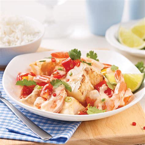 cuisine lait de coco mijoté de crevettes et poisson au lait de coco recettes