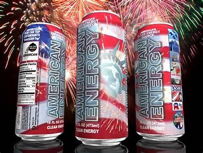 Energy Drink American Flag Seal Patriotic 2008