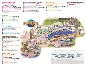 2017 Universal Studios Park Map