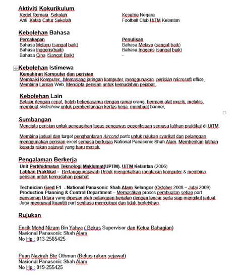 contoh resume cv untuk guru 2018 contoh resume cv guru