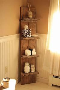 17 best ideas about pallet shelf bathroom on pinterest With kitchen cabinets lowes with diy pallet wall art