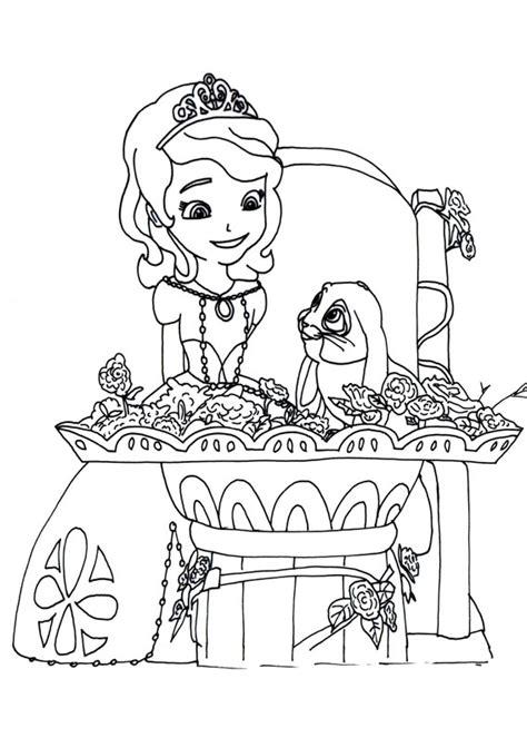 disegni  sofia la principessa da colorare