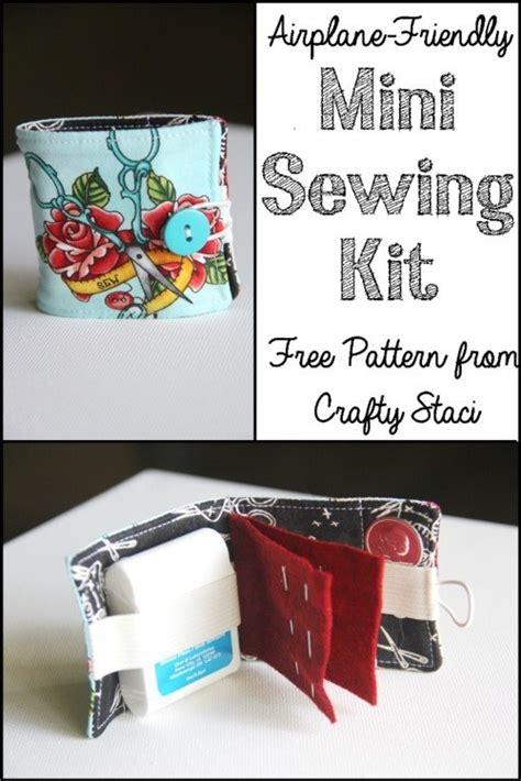 tutorial airplane travel sewing kit sewing