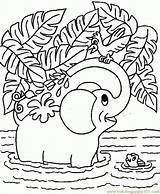 Coloring Elephant sketch template