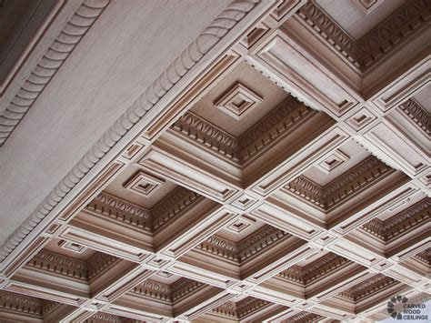 Decorative Crown Molding by Renaissance Coffered Ceiling Traditional Living Room