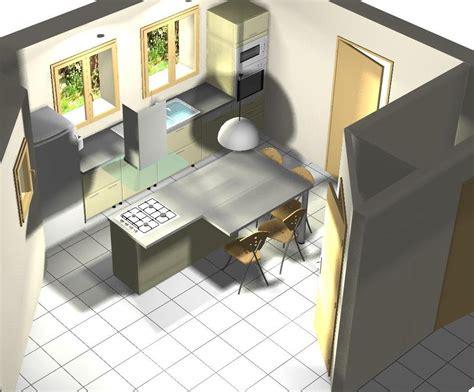 implantation d une cuisine cuisine ment construire un ilot de cuisine diy construire
