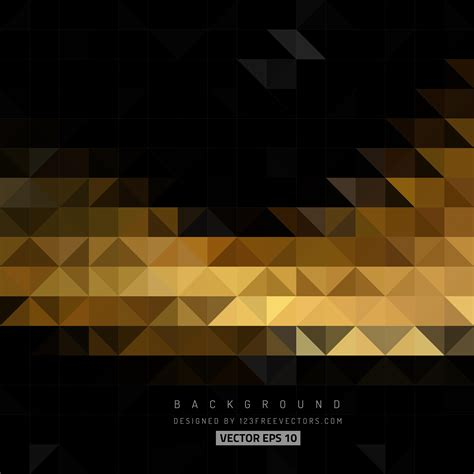 abstract black gold triangle vector background