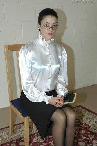 Best Satin Blouse Skirt Images On Pinterest Satin Blouses Blouses And Dominatrix