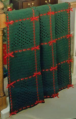 Afghan Crochet Pattern Christmas Trees