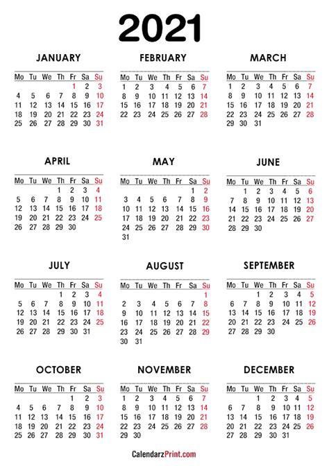 calendar  paper size printable  white