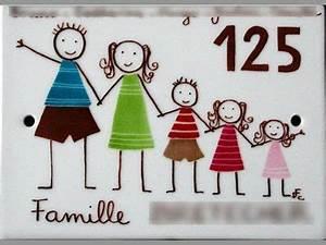 Plaque De Maison Personnalisée : plaque maison personnalis e en porcelaine peinte ~ Dallasstarsshop.com Idées de Décoration