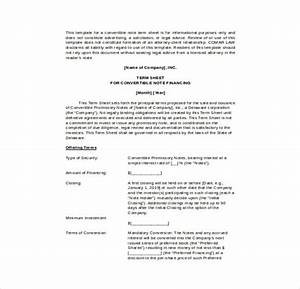 14 term sheet template free word pdf documents With convertible note term sheet template