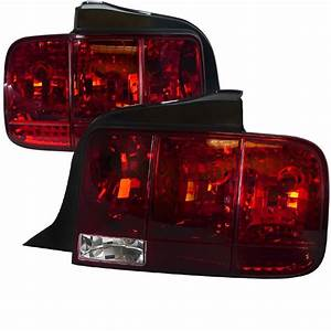 2005-2009 Ford Mustang Red Sequential Tail Lights-LT-MST05R-SQ-TM