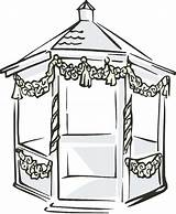 Gazebo Clipart Clip Garden Pavilion Cliparts Outdoor Library Clipground Webstockreview Drawings 79kb 400px sketch template