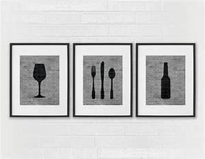 modern dining room art prints black white kitchen beer With kitchen colors with white cabinets with etsy framed wall art