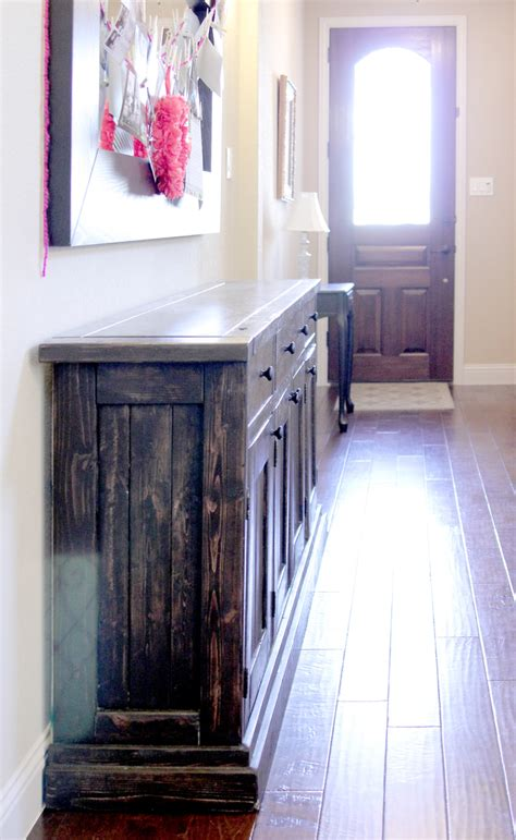 Sideboard Tables by White Rustic Sideboard Buffet Table Diy Projects