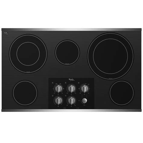 36 inch electric cooktop shop whirlpool gold 5 element smooth surface electric