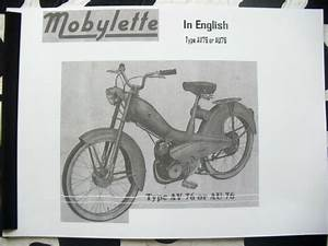 Mobylette  Moped   Av76    In English   Parts Book With Full Exploded Diagrams