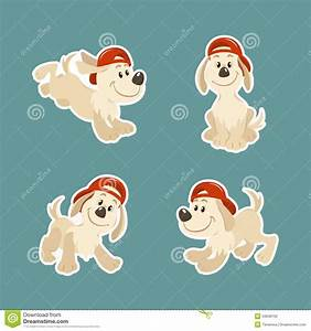 Puppy Dog Character Design Set Stock Vector - Image: 53948192
