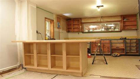 diy kitchen island from stock cabinets diy kitchen island knock it off the live well network