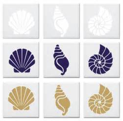 easy to install kitchen backsplash seashell design tile decals stickers nautical by