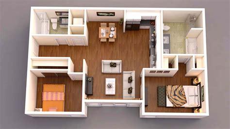 Bedroom Floor Exercises by 3d Floor Plan Top View Home Apartement Konsep In 2019