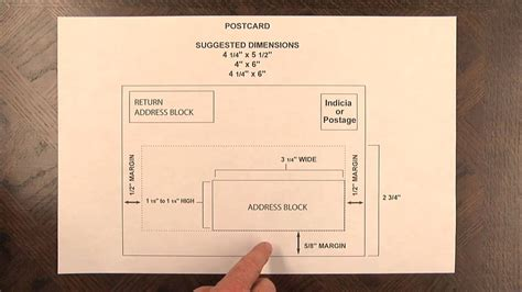 postcard mail piece design specs youtube
