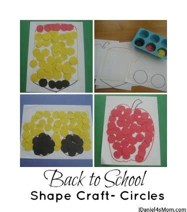 back to school shape craft circles 809 | jdaniel4smom Back to School Shape Craft collage