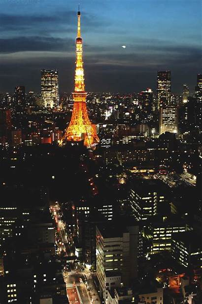 Tokyo Japan Tower Vertical Gifs Mygifs Timelapse