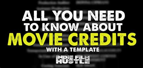 All You Need To About Credits With Template Ifh